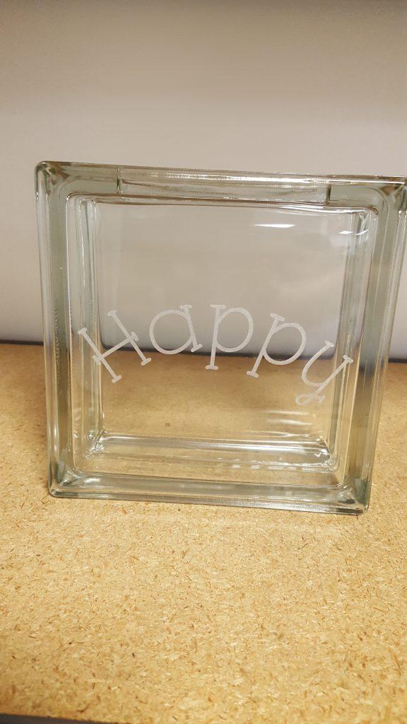 Engraved Glass Block