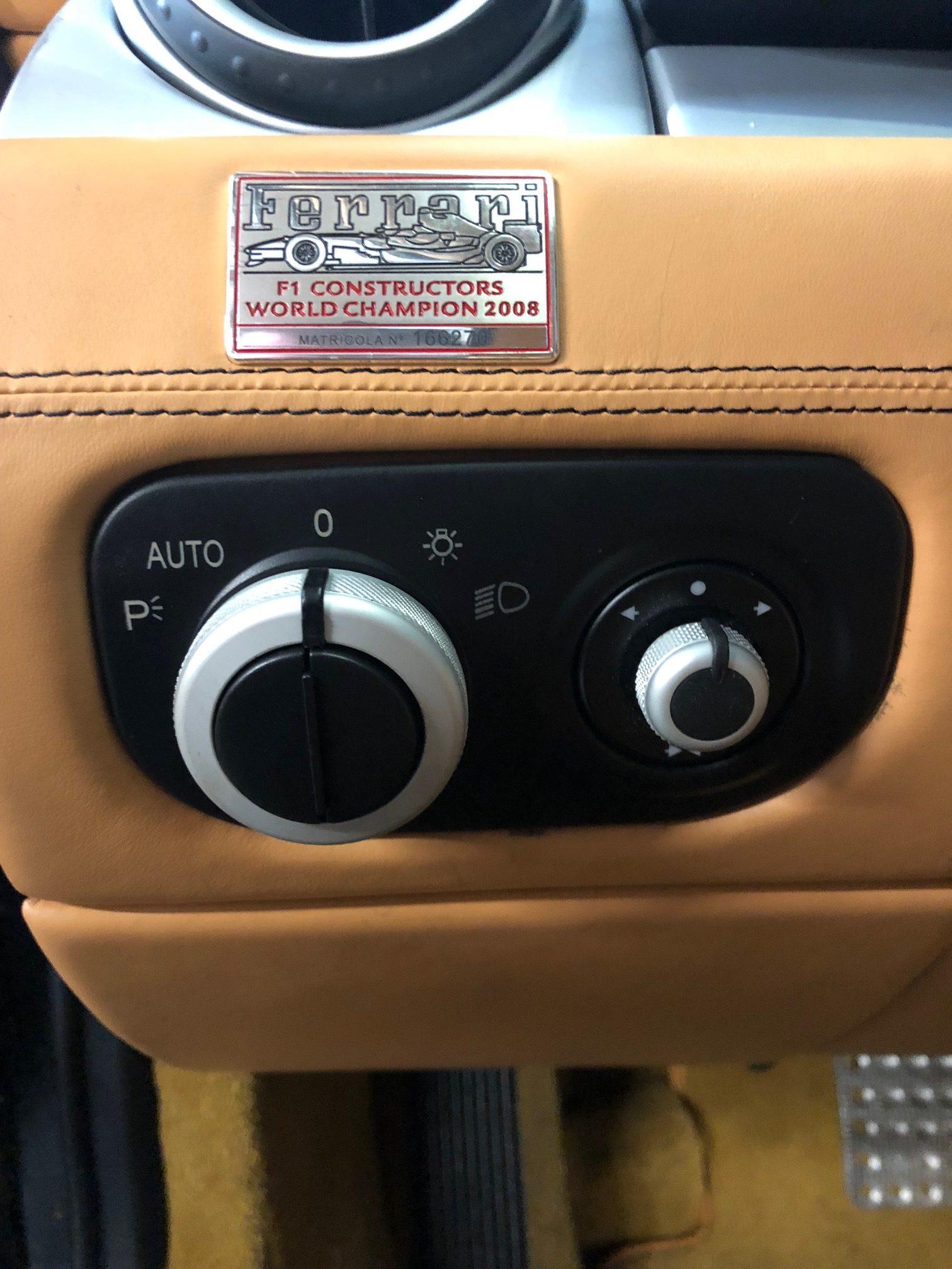 headlight control switch for a 2009 Ferrari 612